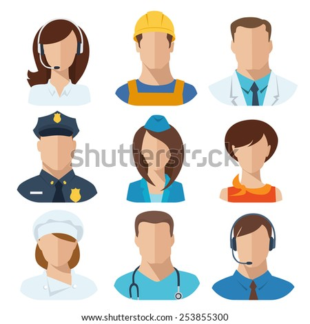 Professions flat vector characters - stock vector