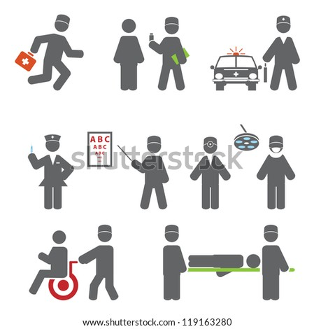 Professions. Set vector icons for you design - stock vector