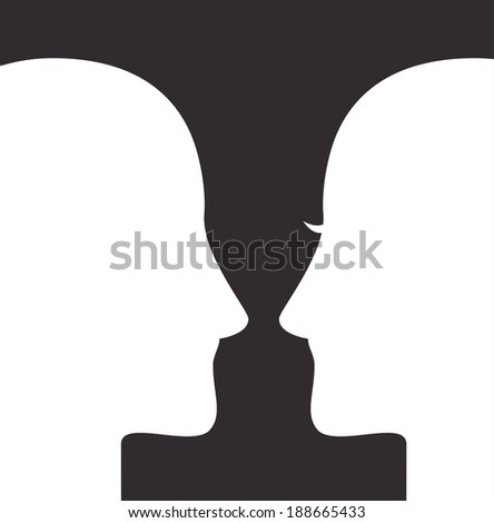 Profile design over black background, vector illustration