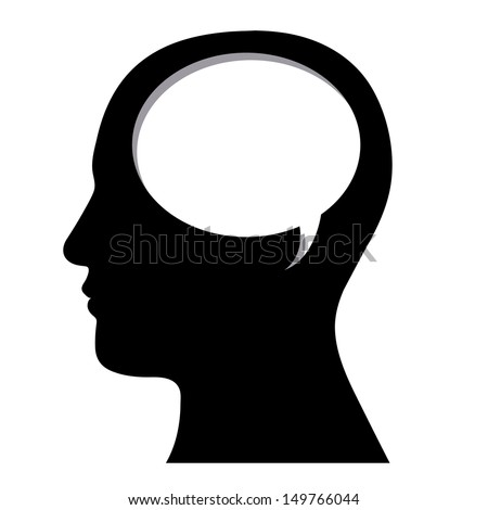 profile design over white background vector illustration  - stock vector