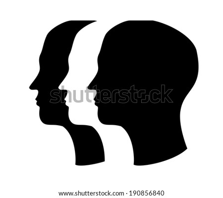 Profile design over white background, vector illustration