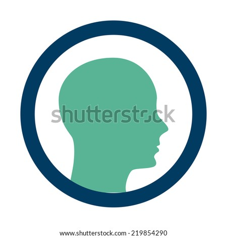 profile graphic design , vector illustration