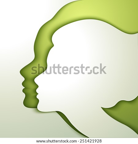 Profile of beautiful young woman - stock vector