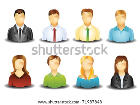 Profile pictures - stock vector