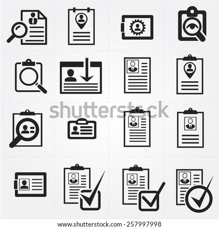 resume icon vector www pixshark images galleries