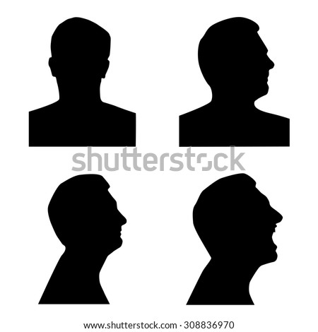 Profile Open Mouth Silhouette Stock Images, Royalty-Free ...