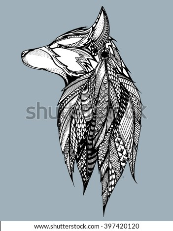 Wolf Vector Stock Photos, Royalty-Free Images & Vectors - Shutterstock Raccoon Drawing