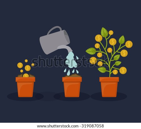 Profit concept with creative icons design, vector illustration eps 10 - stock vector