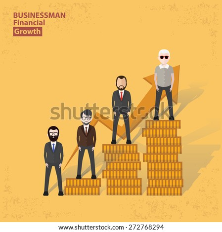 Profit design on yellow background, clean vector. - stock vector