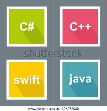Programming Languages Icon Set  C Programming Icon