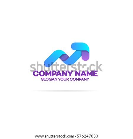 Progress Logo Arrow Growing Success Business Stock Vector Hd