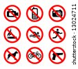 prohibit sign vector - stock photo