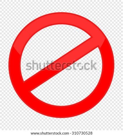 prohibited - stock vector