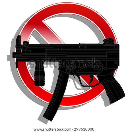 prohibited sign no weapon. vector illustration 5 - stock vector