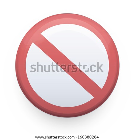 prohibited sign. Vector design