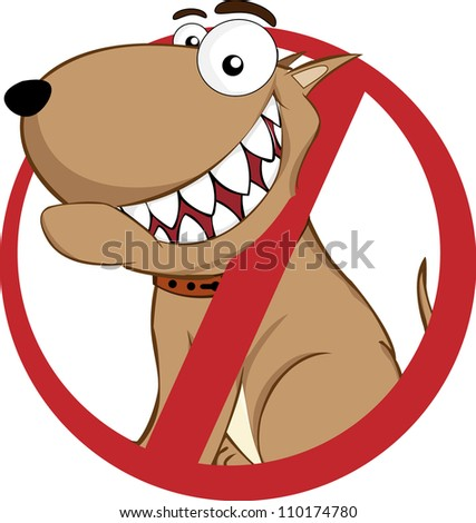 prohibited signs no dog - stock vector