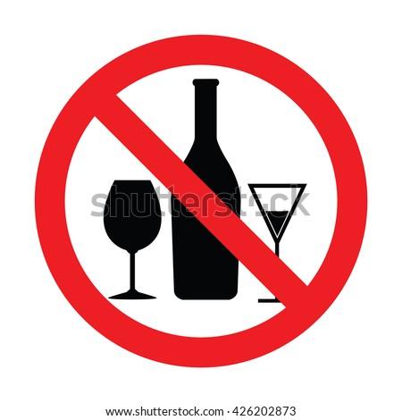 klonopin no drinking symbol
