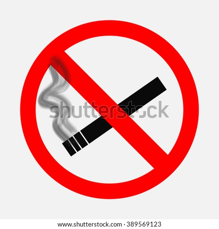 Prohibiting Signs No Smoking Sign On Stock Vector 389569123 ...
