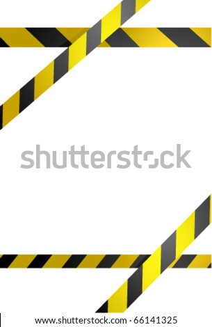 Prohibition line. Warning tape isolated on white - stock vector