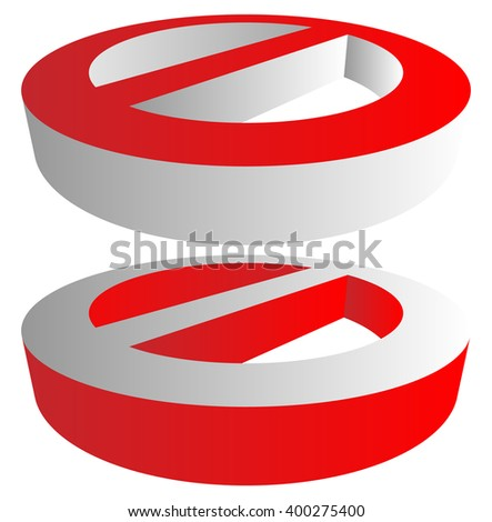 Prohibition, restriction sign. Red no entry, do not enter sign(s) on white. Caution, warning, keep away sign. - stock vector