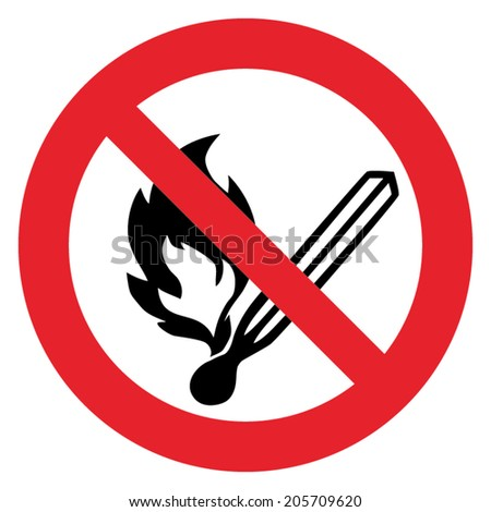 Prohibition sign NO FIRE or DO NOT FIRE - stock vector
