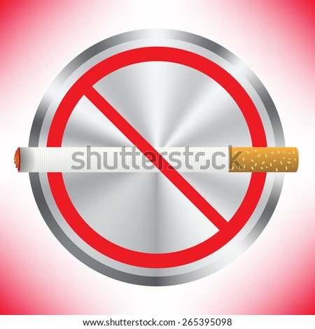 Prohibition sign on red background. No smoking sign. Sign showing no smoking is allowed. No smoking mark. Smoking prohibited symbol isolated on red background. - stock vector