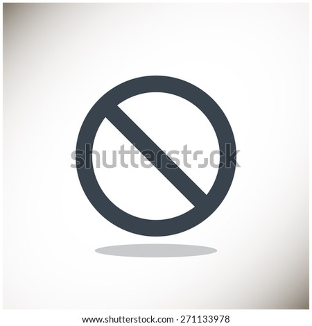 prohibition sign, web icon. vector design - stock vector