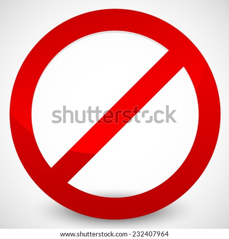 Prohibition sign with highlight - stock vector