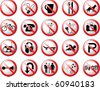 Prohibition Symbols 2 - stock vector