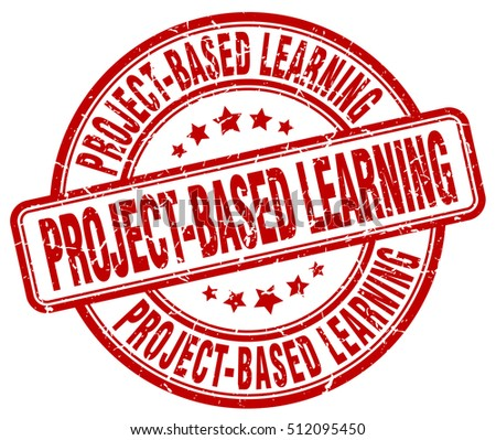 project-based learning stamp.  red round project-based learning grunge vintage stamp. project-based learning