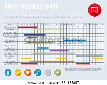 Gantt Chart Stock Images RoyaltyFree Images  Vectors  Shutterstock