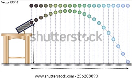 Projectile Motion - stock vector