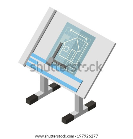 Architecture Drawing Table architect drawing table stock vectors, images & vector art