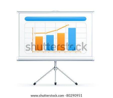 Projection screen, vector - stock vector