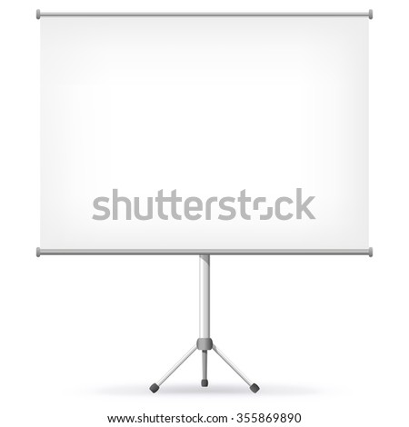 Projection Screen Vector Illustration.