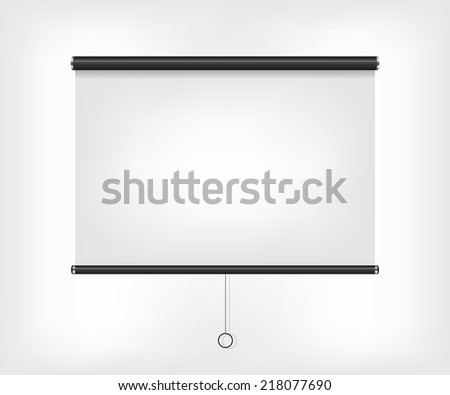 Projector blank screen - stock vector