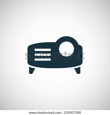 projector icon on white background  - stock vector