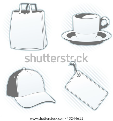 Promo articles design template set - Look at the portfolio for other sets - stock vector