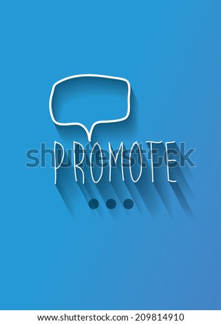 promote typo with shadow vector,Eps 10 - stock vector