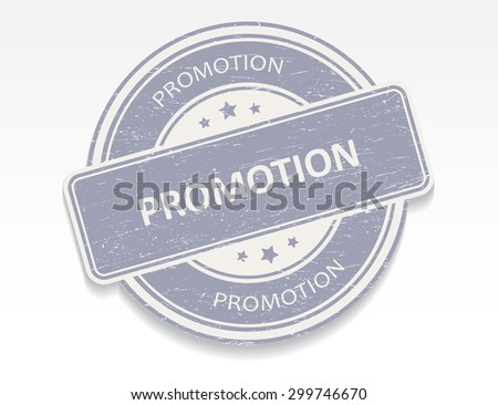 Promotion rubber stamp.Promotion grunge stamp.Vector illustration. - stock vector