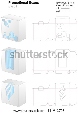 promotional boxes part 2 - stock vector