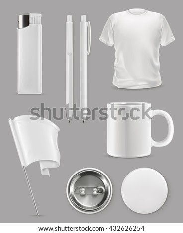 Promotional items, vector set mockup - stock vector