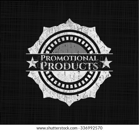 Promotional Products written on a blackboard - stock vector