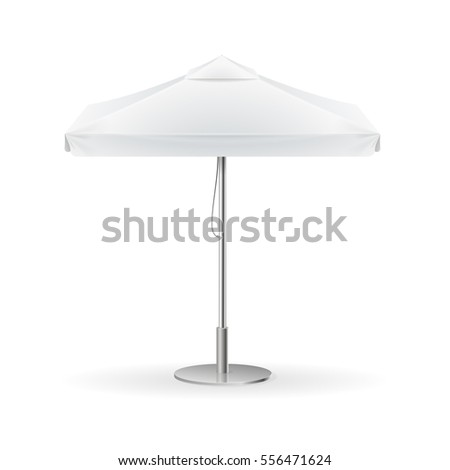 Promotional Square Advertising Outdoor White Umbrella Stock Vector