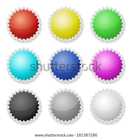 Promotional Stickers. Colorful Vector Labels.