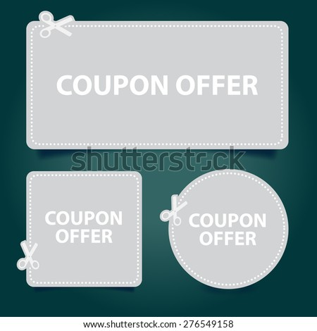 Promotions Vector, Coupon