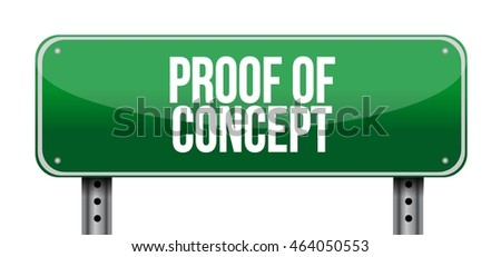 proof of concept road sign concept illustration design graphic