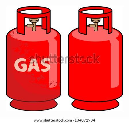Propane gas cylinder, vector illustration - stock vector
