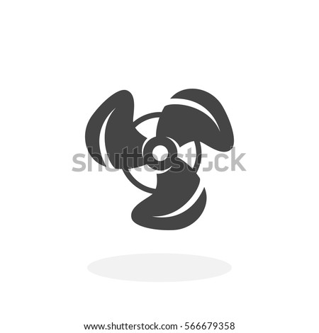 Propeller Icon Isolated On White Background Vector Logo Fan In Flat Design Style