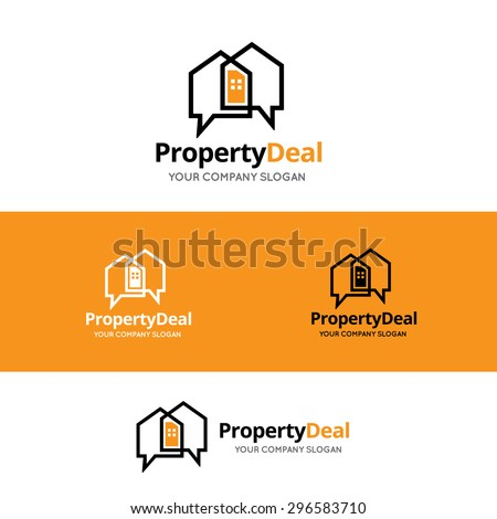 Property Deal Vector Logo Symbol - stock vector
